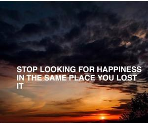 happines, quotes, and sunset image
