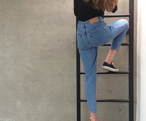 girl, jeans, and grunge image