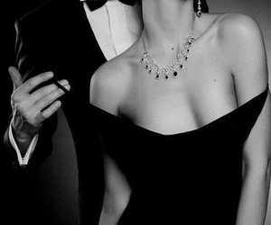 black dress, relationshipgoals, and couple image