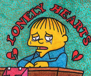 heartbreak, lonely, and the simpsons image