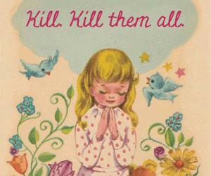 kill, birds, and flowers image