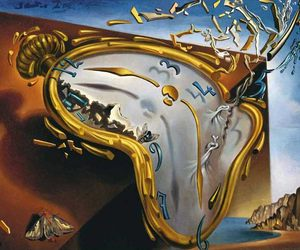 art, clock, and salvador dali image