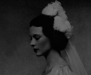 black and white, vintage, and bride image