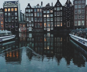 amsterdam, boats, and canals image