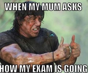 exam, funny, and rambo image