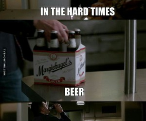 beer, dean winchester, and spn image