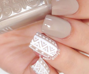 nails, beige, and design image