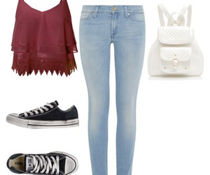 casual, converse, and clothes image