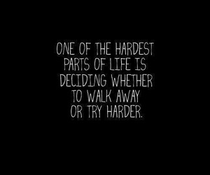 quotes, life, and hard image