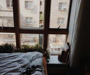 bedroom, books, and city image
