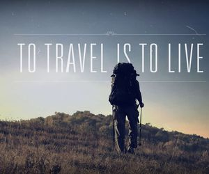 travel, live, and backpacker image