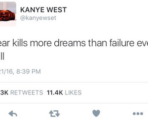dreams, kanye west, and life image