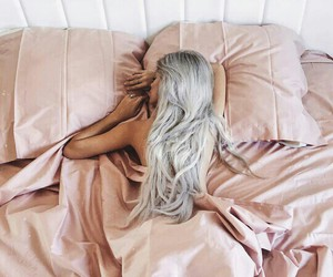 bed sheets, pink, and cozy image