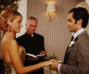 gossip girl, serena, and wedding image