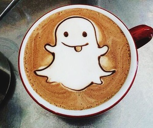 coffee, snapchat, and drink image