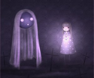 ghost, graveyard, and spooky image