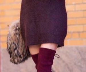 dress, fall, and fashion image