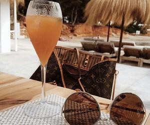 bag, drink, and singlasses image