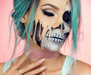 Halloween, pretty, and makeup image