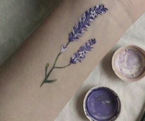 flowers, lavender, and veins image