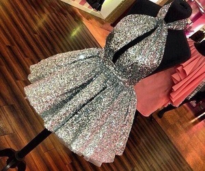 dress, luxury, and glitter image