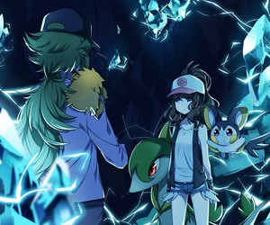 n, touko, and pokemon image