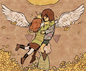 chara, frisk, and fallen+angels image