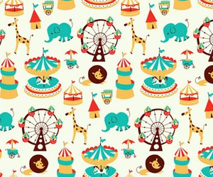 wallpaper, circus, and pattern image
