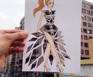 art, draw, and dress image