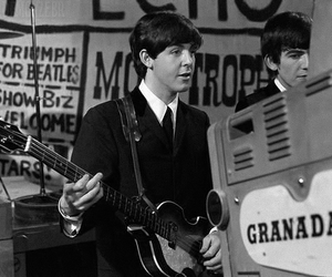 60s, george harrison, and Paul McCartney image