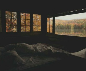 autumn, bed, and sleep image