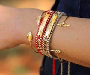 bracelets, gold, and j'adore image