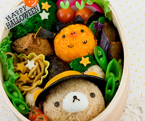 bento, Halloween, and rilakkuma image