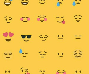 emotions, yellow, and faces image