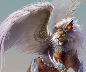 lion, art, and fantasy image