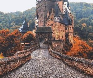 autumn, castle, and fall image
