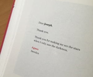 book, stars, and thanks image