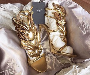 luxury, shoes, and gold image