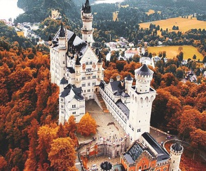 castle, autumn, and germany image