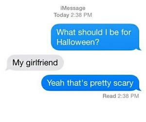 Halloween, girlfriend, and funny image