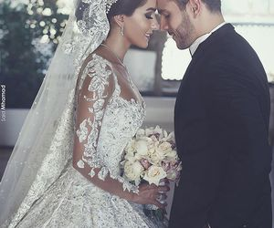 bride, gown, and wedding dress image