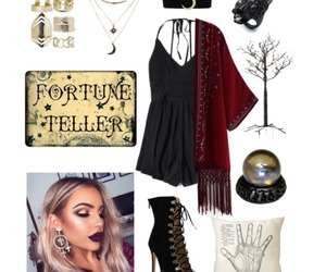 costume, fortune teller, and Halloween image