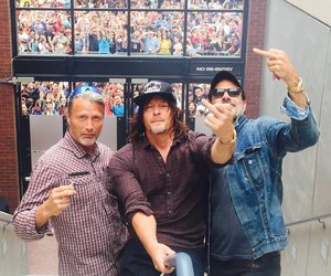 mads mikkelsen, jeffrey dean morgan, and norman reedus image
