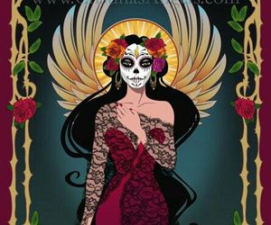 day of the dead, girl, and la llorona image