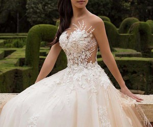 dress, girl, and married image
