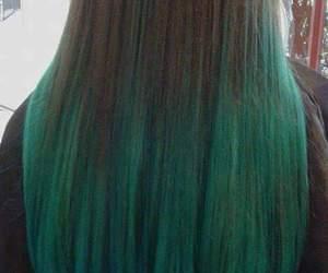 girl, green, and green hair image