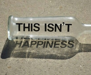 bottle, happiness, and quotes image