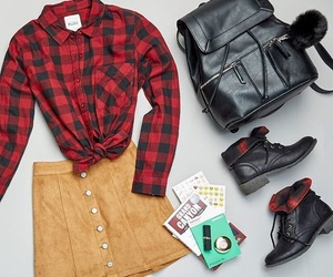 accessories, ankle boots, and autumn image