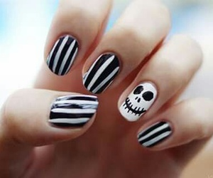 nails, Halloween, and nail art image