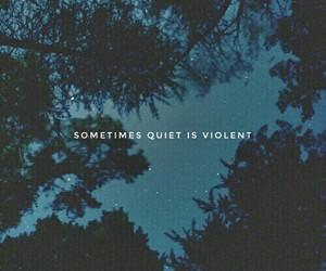 dark, quiet, and sad image